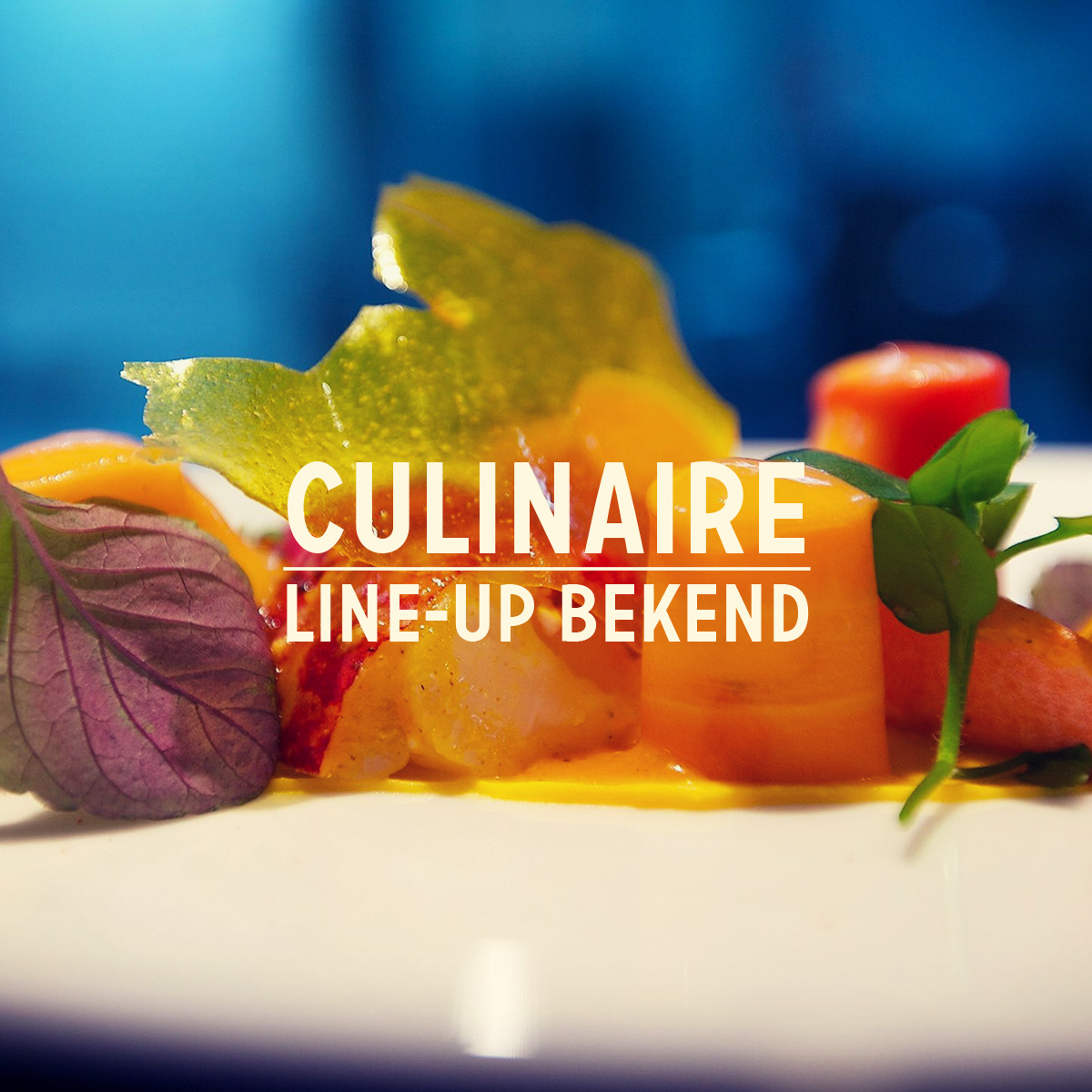 Culinaire programma bekend