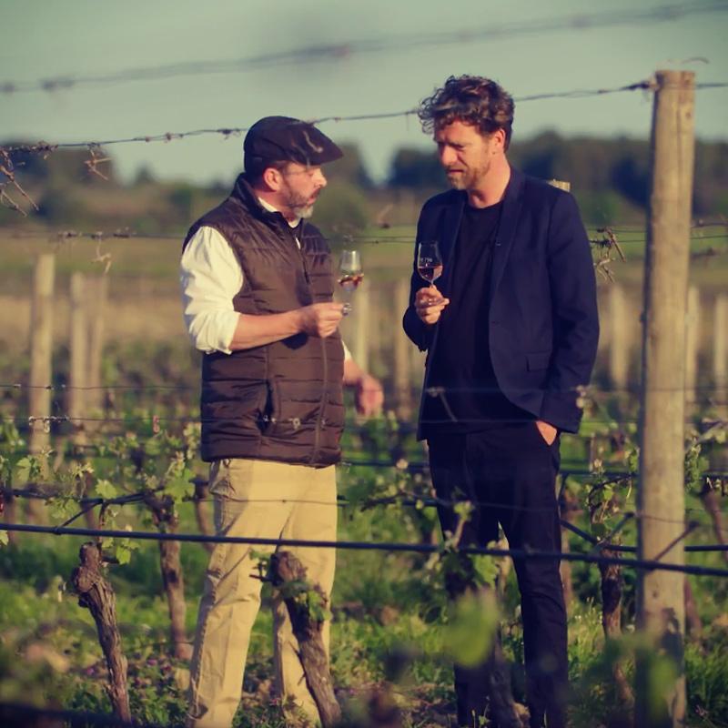Piem Niehe op bezoek bij wijnmaker Horáce Cohèn